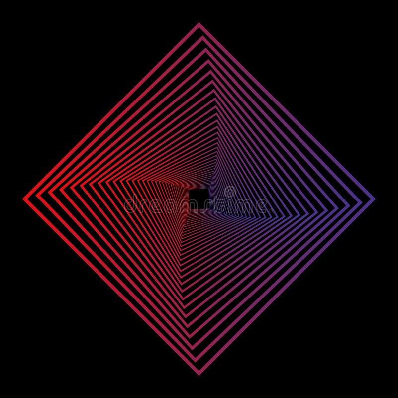 Geometrische Linie Kunst in der Linie Kunstart auf schwarzem Hintergrund Technologienetzhintergrund Grafische Verzierung Modernes vektor abbildung