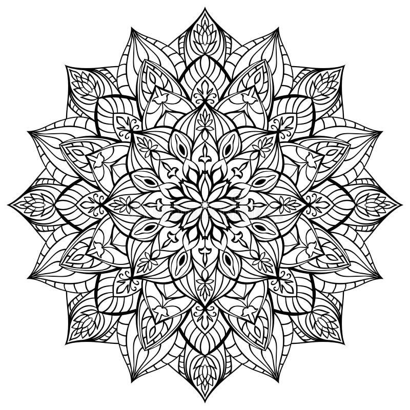 Geometrische mandala royalty-vrije illustratie