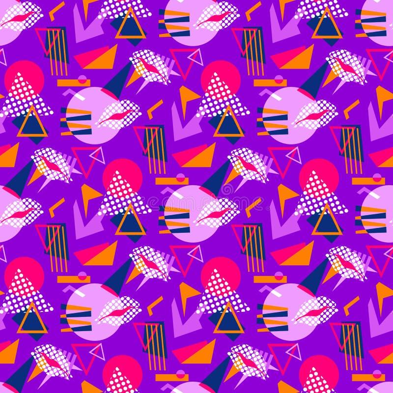 Geometrische Motive des nahtlosen Musters vektor abbildung