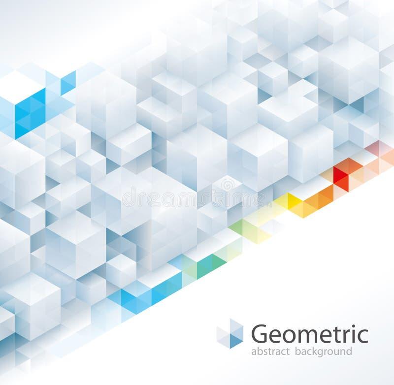 Geometrische Muster-Zusammenfassungs-Hintergründe lizenzfreie abbildung