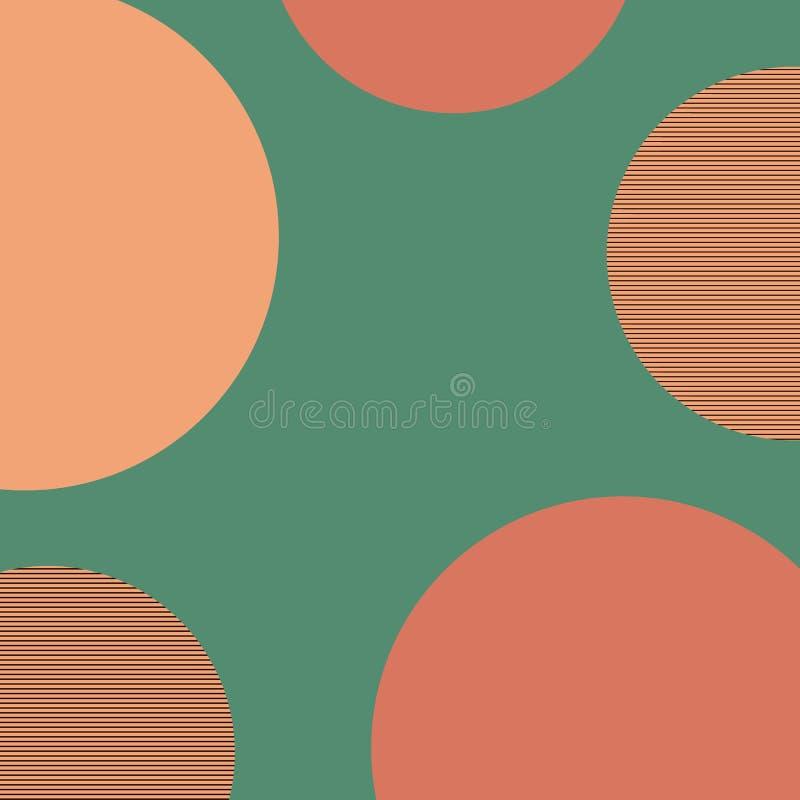 Geometrische Mustermemphis-Art Abstraktes Modemuster Geometrische Form des Grafikdesigns Abstrakte Web-Fahne einfach lizenzfreie abbildung