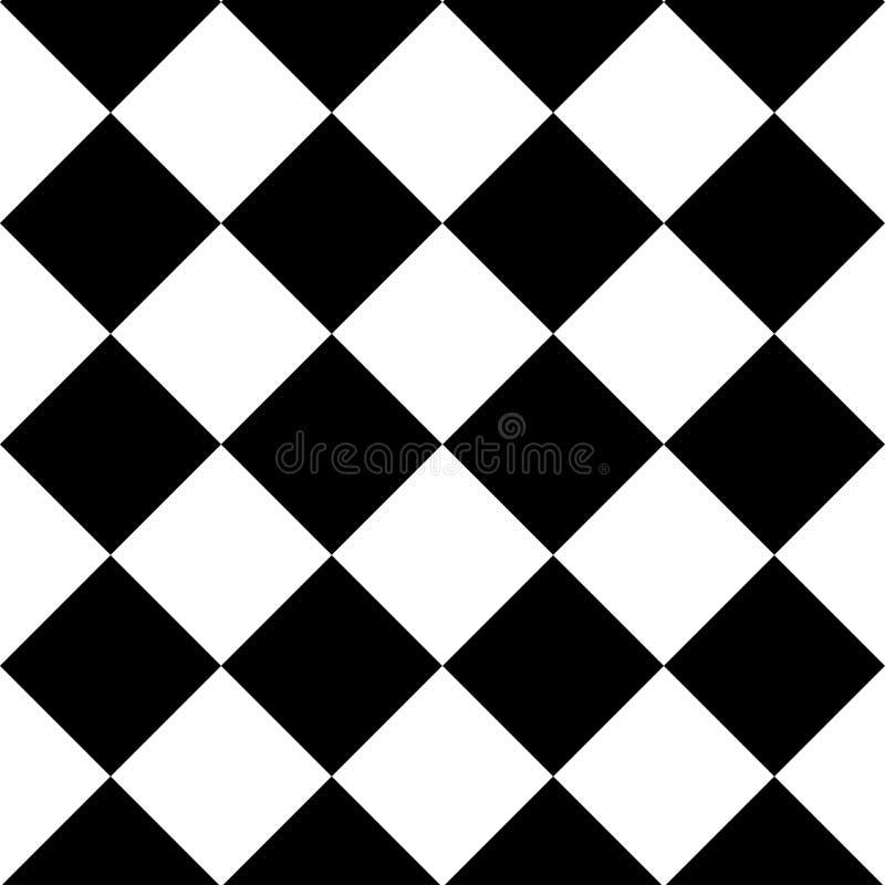 Geometrische naadloze achtergrond met zwart-witte vierkanten Vector stock illustratie