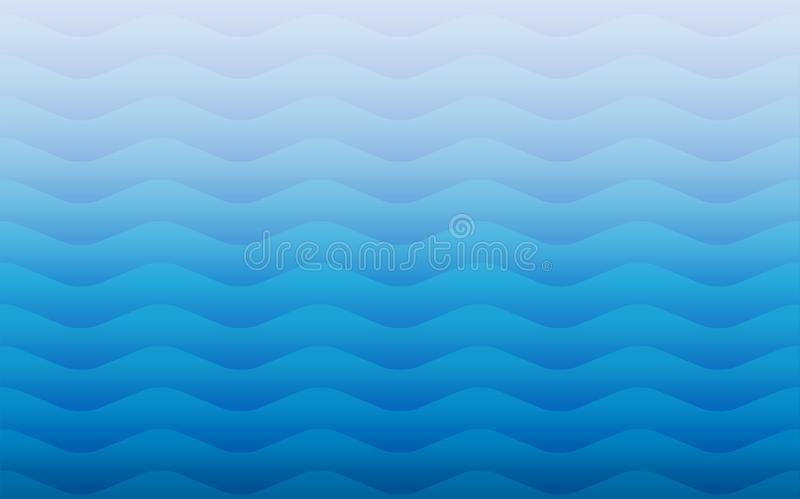 Geometrische naadloze herhaalde vector het patroontextuur van watergolven royalty-vrije illustratie