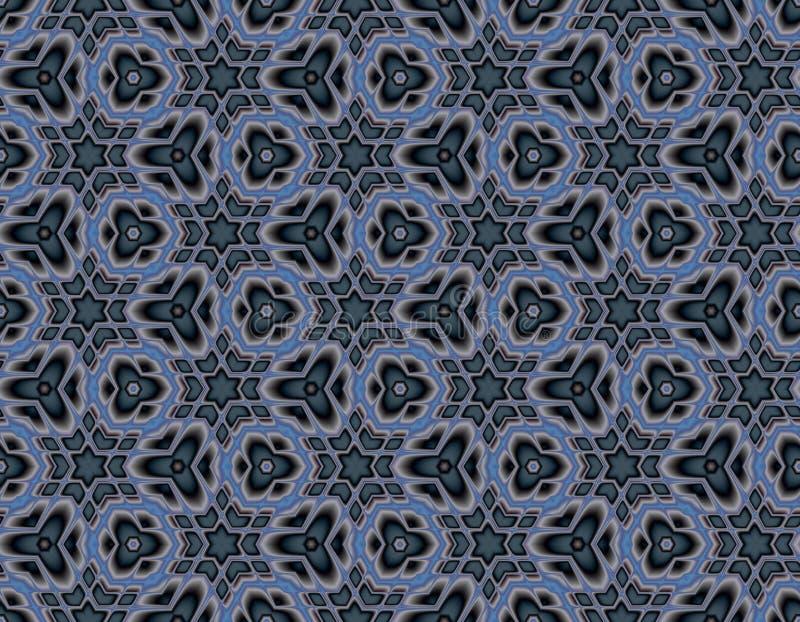 Geometrische naadloze illusie van de sterren royalty-vrije illustratie