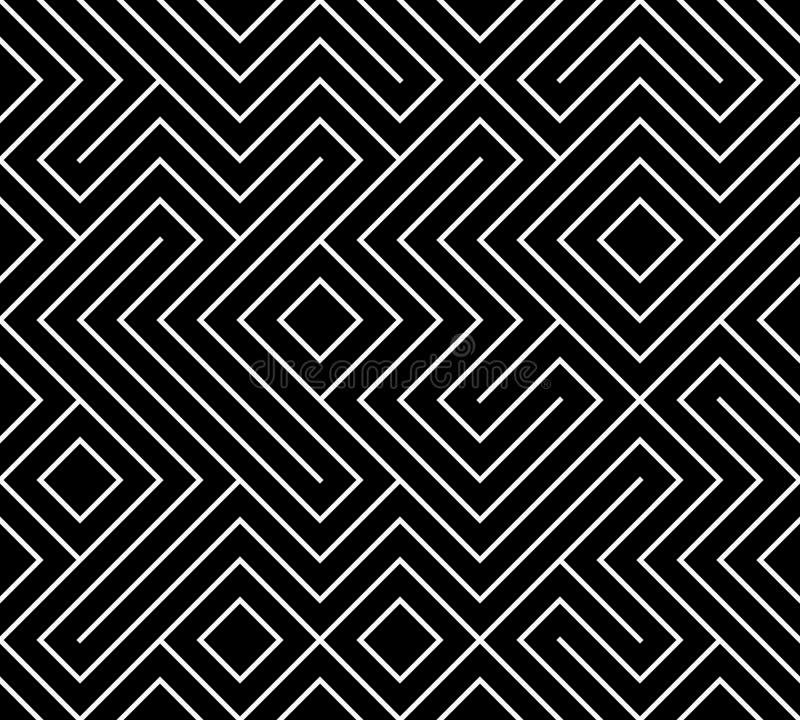 Geometrische naadloze patroonachtergrond Eenvoudige grafische druk Vector die lijntextuur herhalen Modern monster Minimalisticvor stock illustratie
