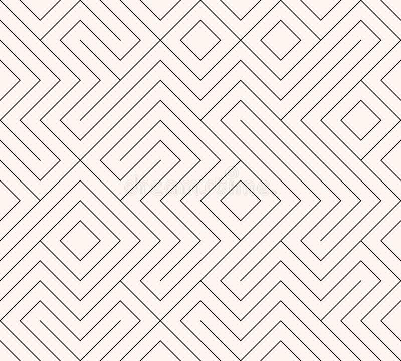 Geometrische naadloze patroonachtergrond Eenvoudige grafische druk Vector die lijntextuur herhalen Modern monster Minimalisticvor vector illustratie