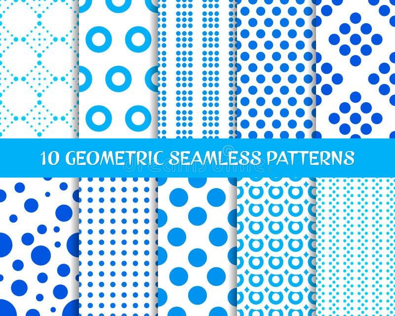 Geometrische naadloze puntpatronen royalty-vrije illustratie