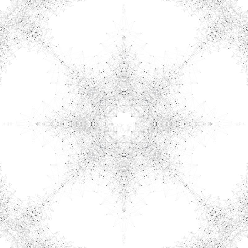 Geometrische naadloze textuur Molecule en mededeling royalty-vrije illustratie