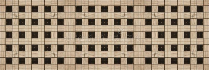 Geometrische nahtlose Beschaffenheit der Zusammenfassung angespornt durch hölzernes - perfektes nahtloses Muster, das modular wie vektor abbildung