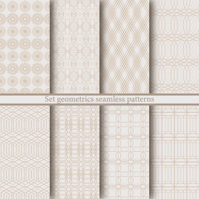 Geometrische nahtlose Muster stockbilder
