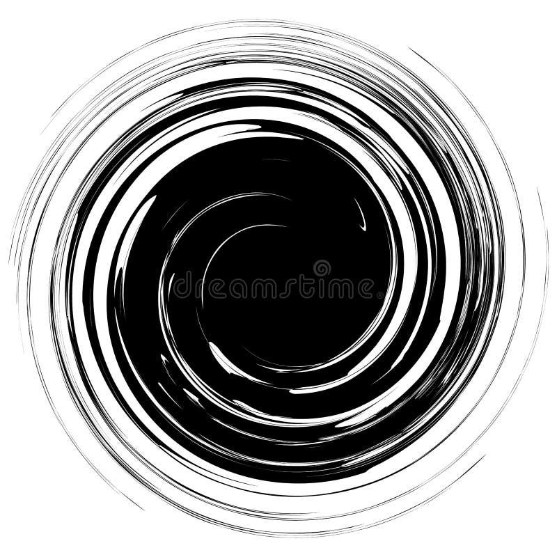 Geometrische nervöse gewundene Form Strudel, Turbulenz mit strukturiertem concent lizenzfreie abbildung