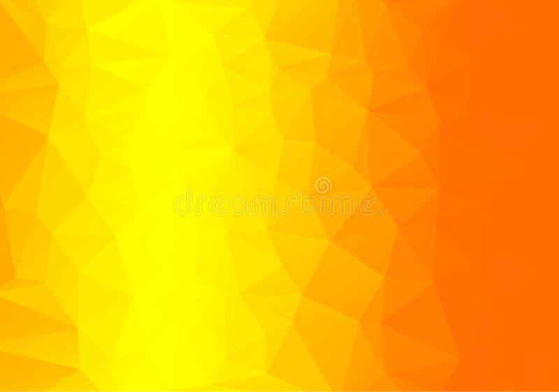 Geometrische oranje achtergrond met driehoekige veelhoeken Abstract ontwerp Vector illustratie vector illustratie