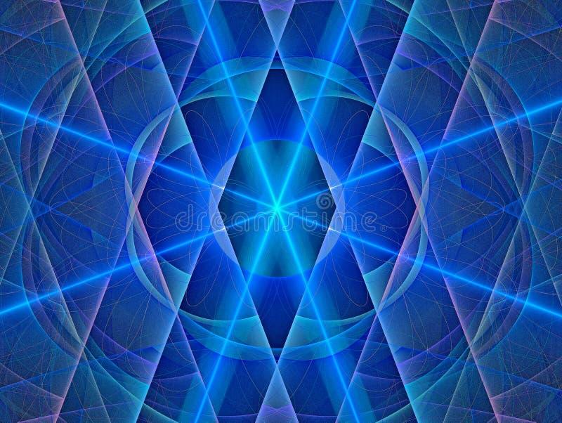 Geometrische patronen Abstracte Magische energie multicolored fractal het 3d teruggeven royalty-vrije illustratie