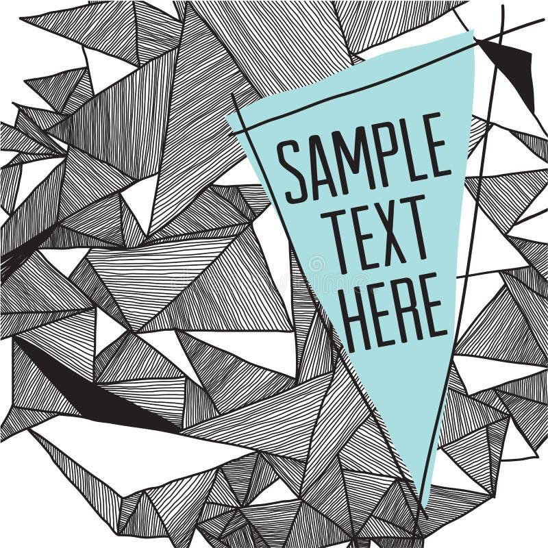 Geometrische patroon moderne achtergrond met plaats voor uw tekst Gr. royalty-vrije illustratie