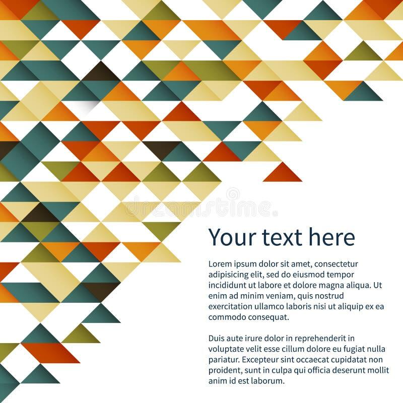 Geometrische patroonachtergrond royalty-vrije illustratie