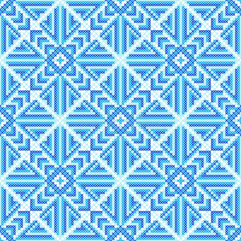 Geometrische pijlen en vierkanten Dwars-steek Ambachten en Hobbys royalty-vrije illustratie