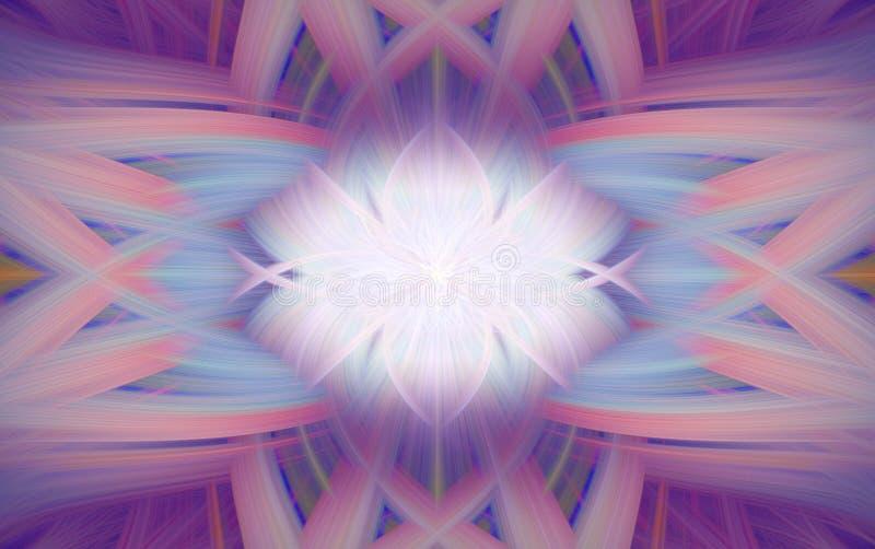 Geometrische purpere patroonfractal als achtergrond Ornament vector illustratie