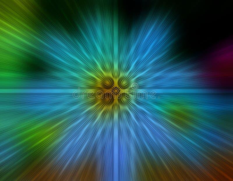 Geometrische Radialunschärfen-Hintergrundtapete lizenzfreie abbildung