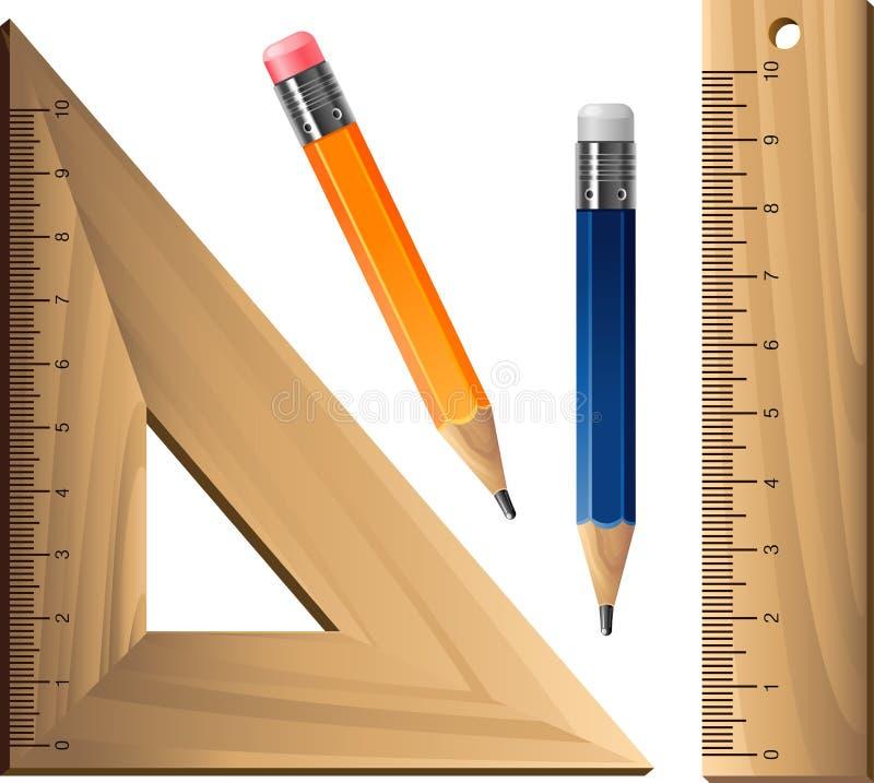 Geometrische reeks over wit vector illustratie