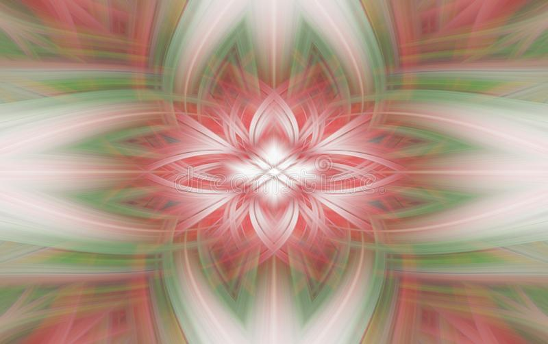 Geometrische rode patroonfractal als achtergrond futuristische rook stock illustratie