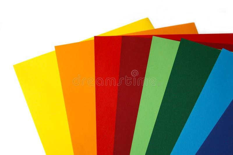 Geometrische samenstelling van verschillende heldere vellen papier Geschikte achtergrond voor uw ontwerp, presentatie, brochure,  royalty-vrije stock foto's