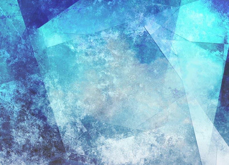 Geometrische Samenvatting in Blauwe Tinten vector illustratie