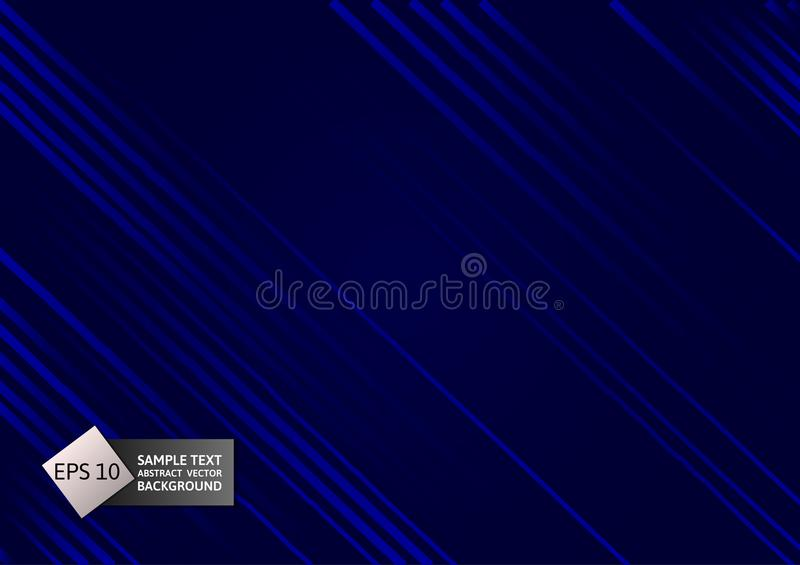 Geometrische samenvatting van de lijn de blauwe kleur op zwarte achtergrond, Vectorillustratie royalty-vrije illustratie