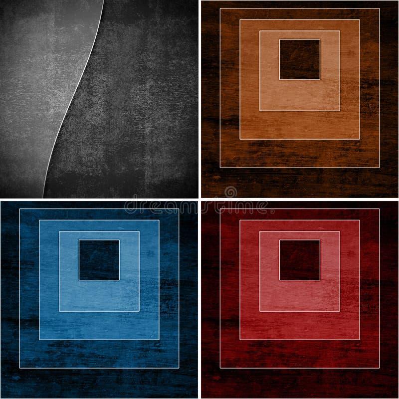 Geometrische Schmutzhintergründe vektor abbildung