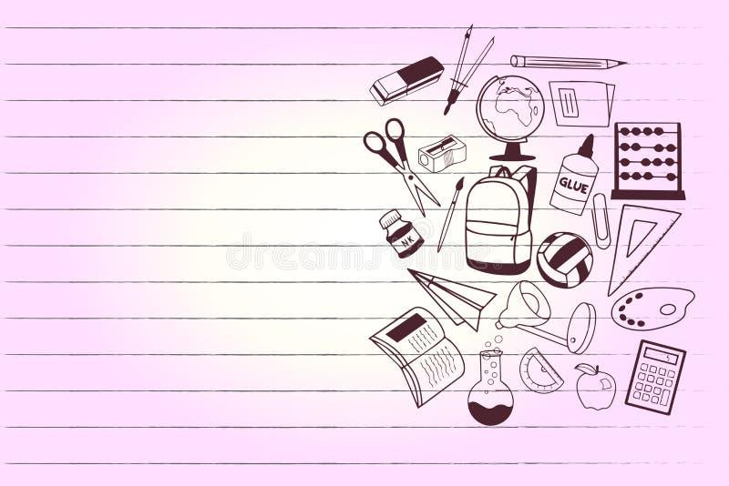 Geometrische Schule Element des flachen des Kopienraumes des Entwurfsgeschäft Vektor-Illustrationskonzeptes leeren modernen Zusam vektor abbildung