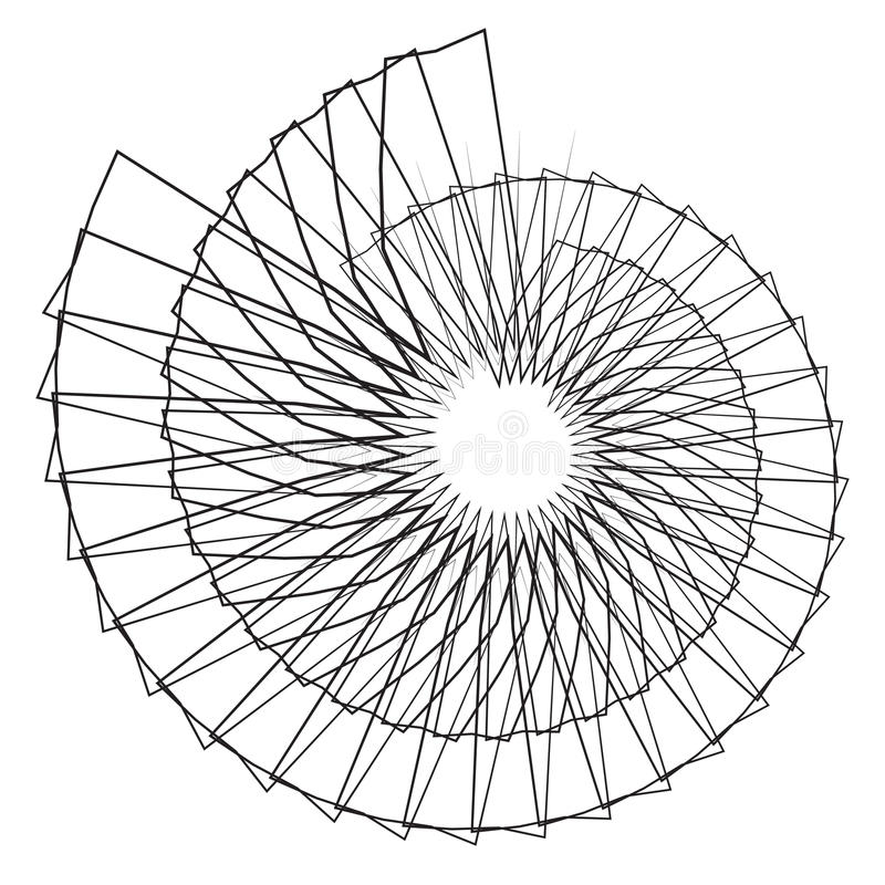 Geometrische spiraalvormige vorm Motief met cirkelelementen abstract g vector illustratie