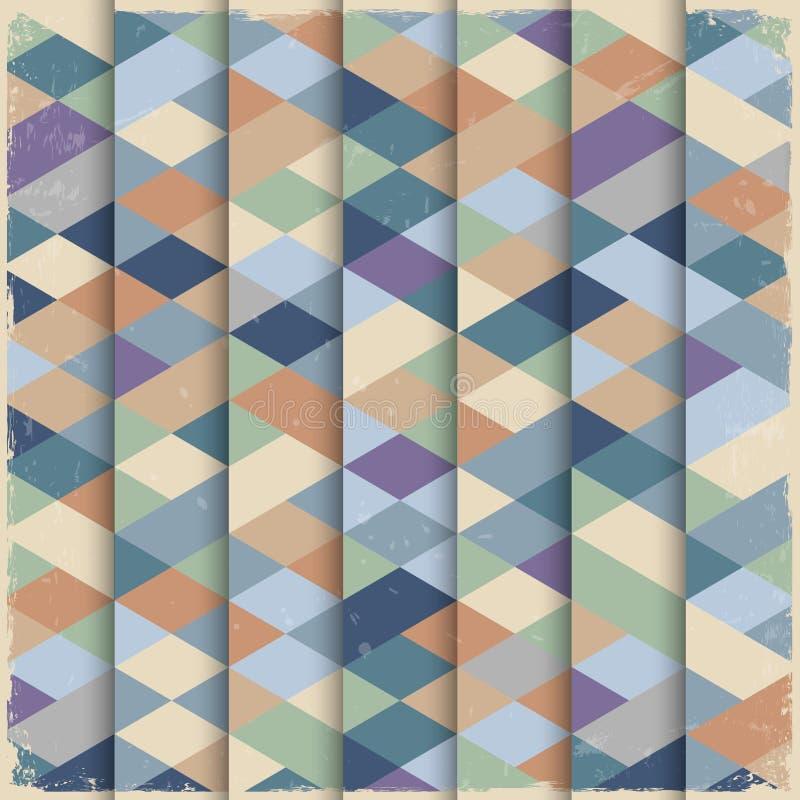 Geometrische structuur in grungestijl vector illustratie