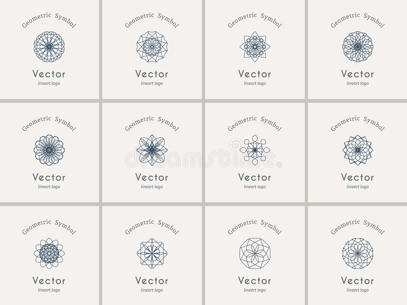 Geometrische Symbole des Vektors lizenzfreie abbildung