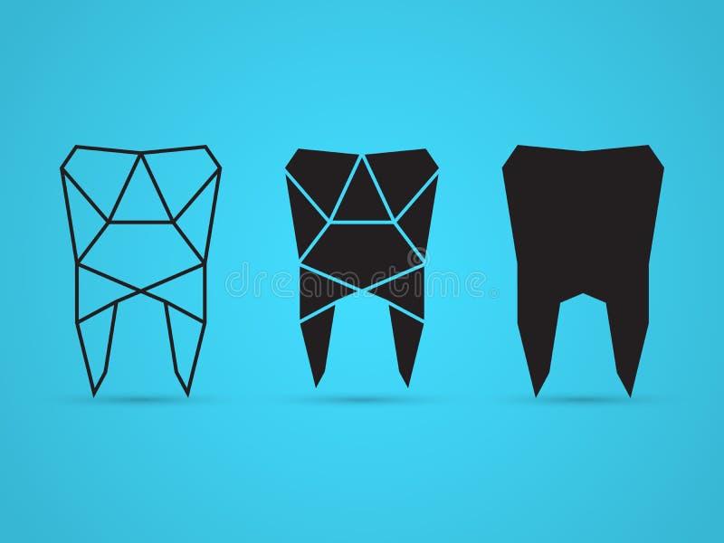 Geometrische tand stock illustratie
