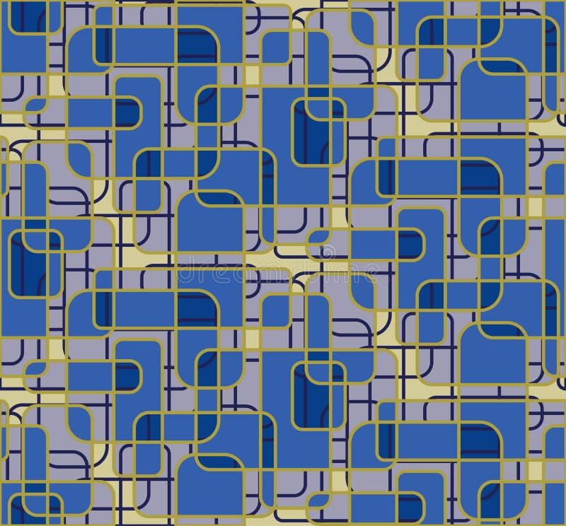 Geometrische Tapete stock abbildung