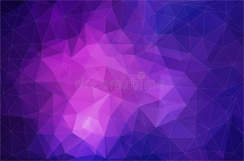 Geometrische Tapete des flachen violetten Dreiecks vektor abbildung