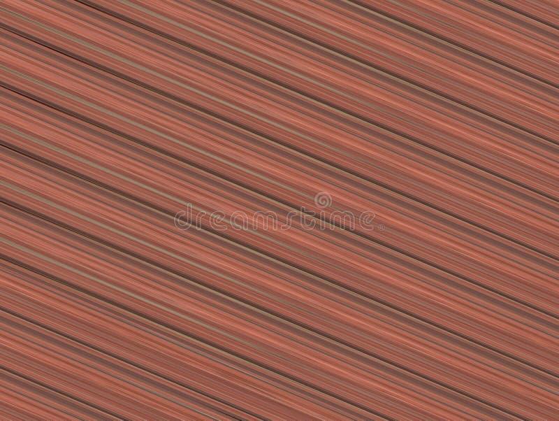 Geometrische textuur als achtergrond van een houten oppervlakte diagonale lijnen van bruin royalty-vrije illustratie