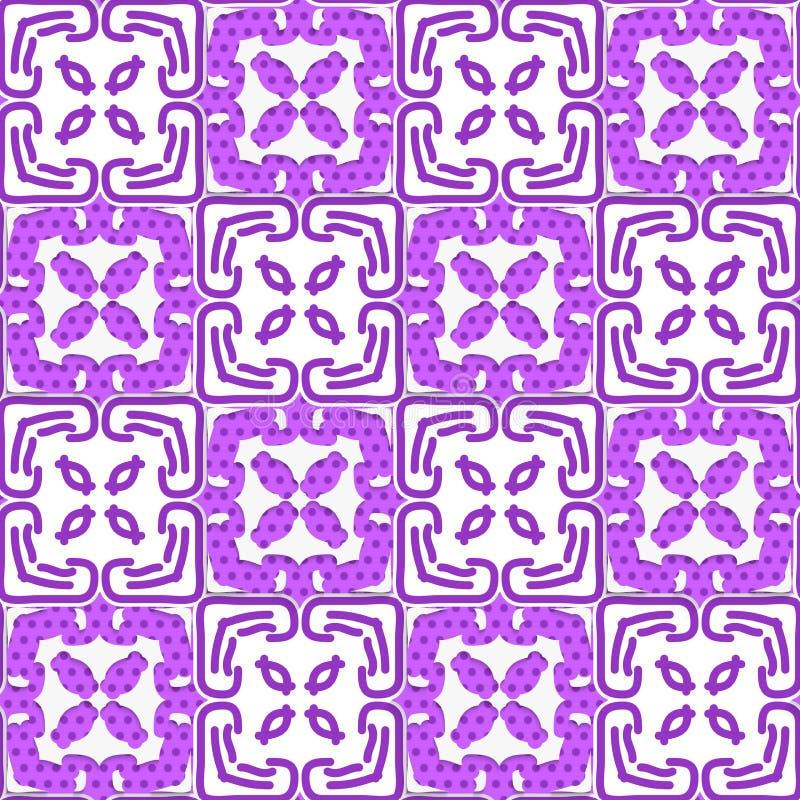 Geometrische tiefpurpurne Verzierung mit Beschaffenheit vektor abbildung