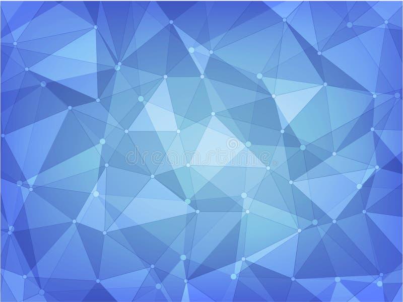 Geometrische veelhoek abstracte achtergrond van blauw vector illustratie