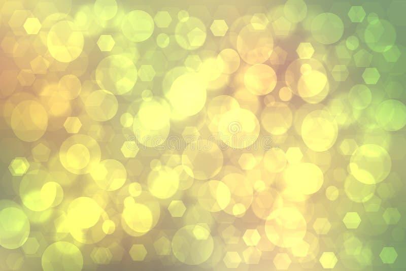 Geometrische Veelhoekachtergrond Abstracte gradiënt geelgroene textuur als achtergrond met geometrisch pentagoon of een abstracte royalty-vrije illustratie