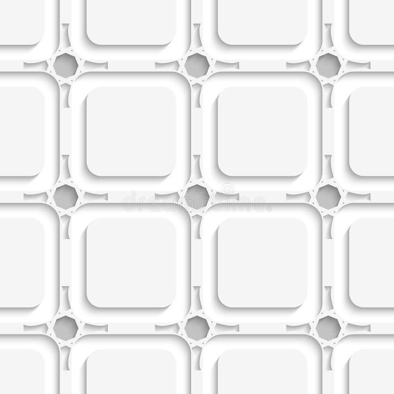 Geometrische Verzierung auf grauem nahtlosem lizenzfreie abbildung