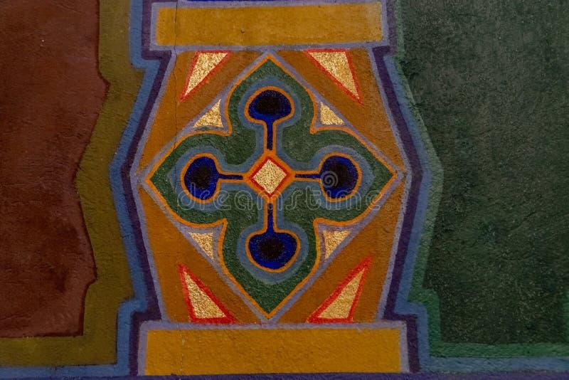 Geometrische Verzierung der Sezession mit Blumenblüte stockbilder