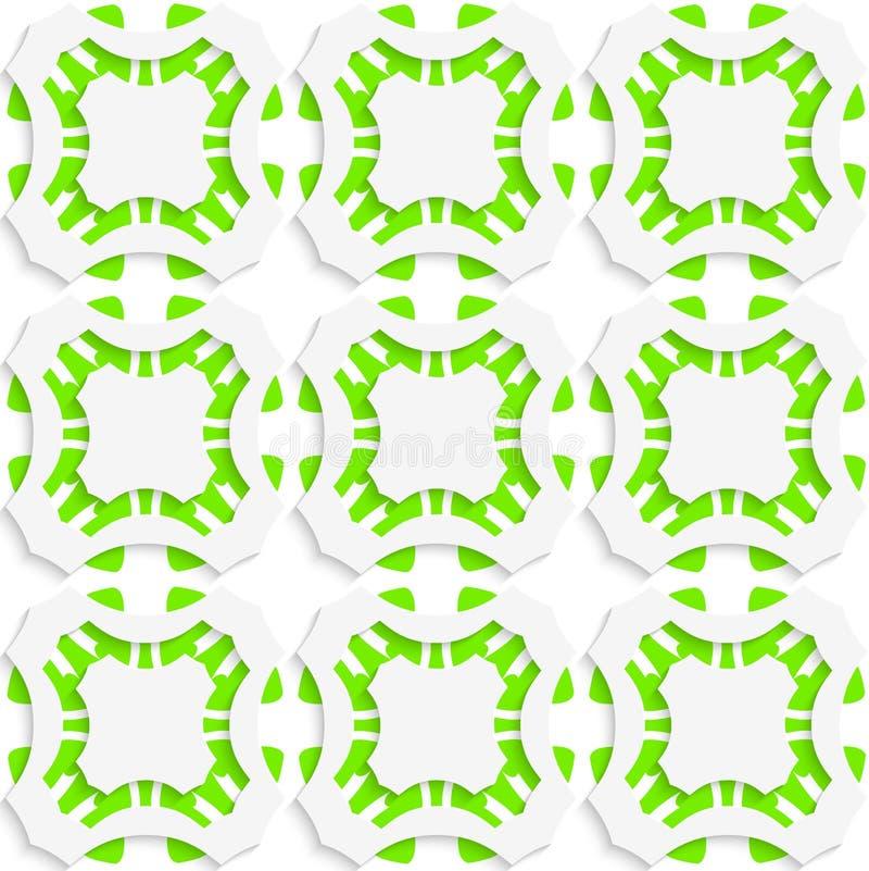 Geometrische Verzierung mit grünem nahtlosem stock abbildung