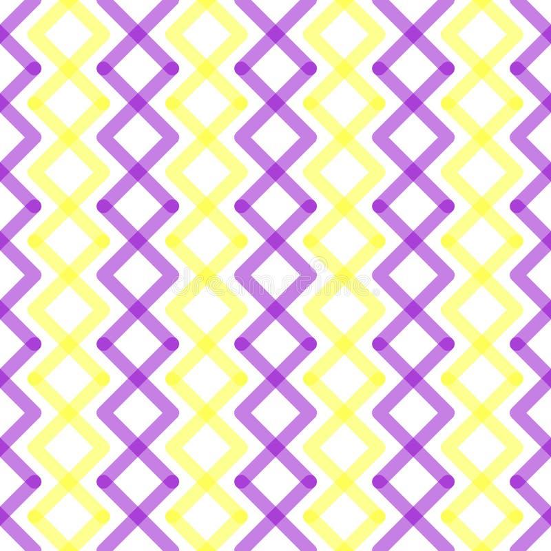 Geometrische Vierkanten Verticale Naadloze Textuur royalty-vrije illustratie