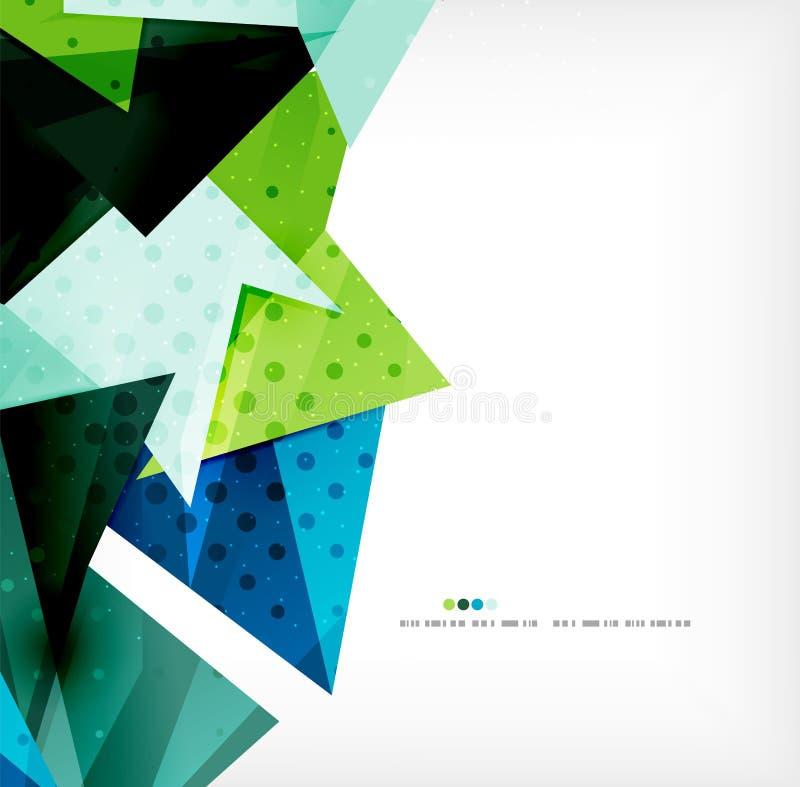 Geometrische vorm abstracte futuristische achtergrond royalty-vrije illustratie