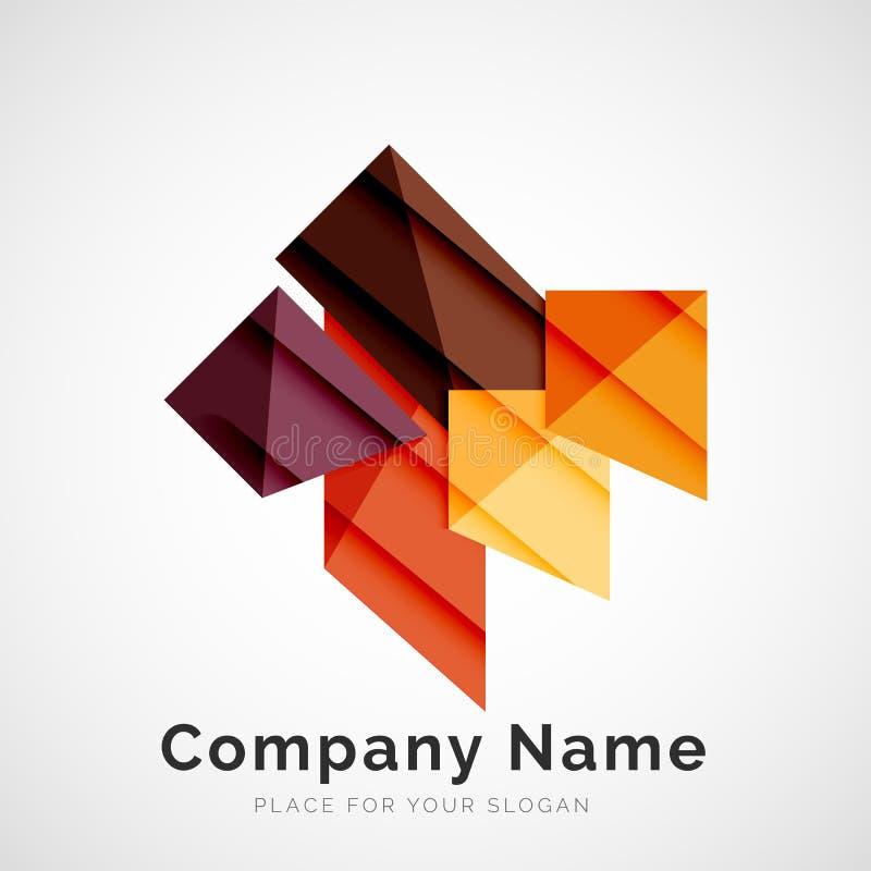 Geometrische vorm, bedrijfembleem vector illustratie