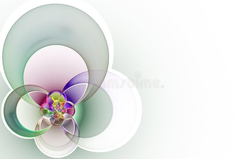 Geometrische vorm van gekleurde kruisende cirkels stock illustratie