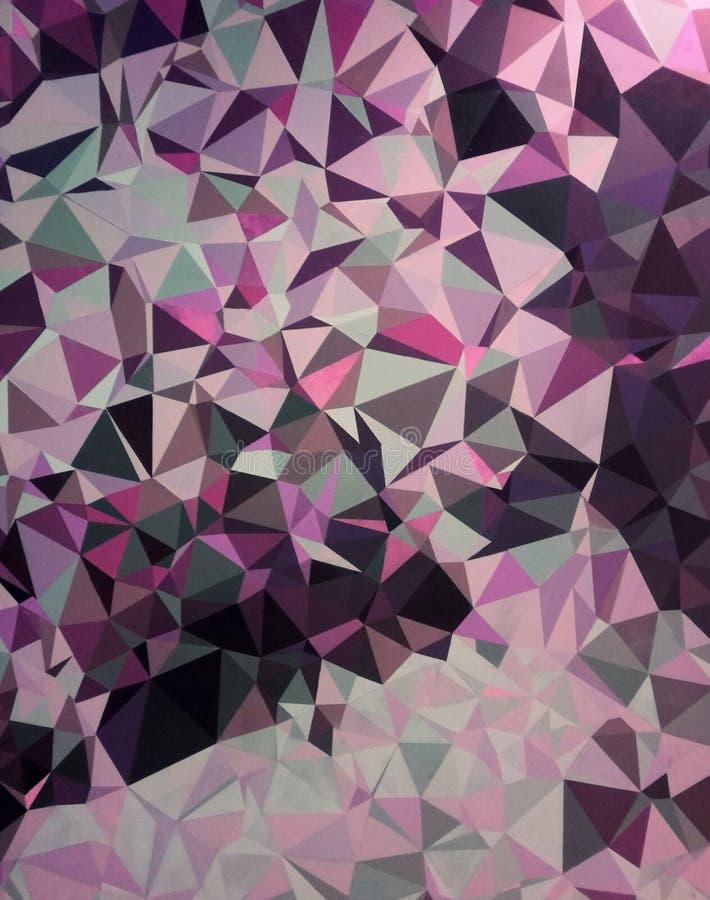 Geometrische vormen, kleurrijk behang, patroon stock foto