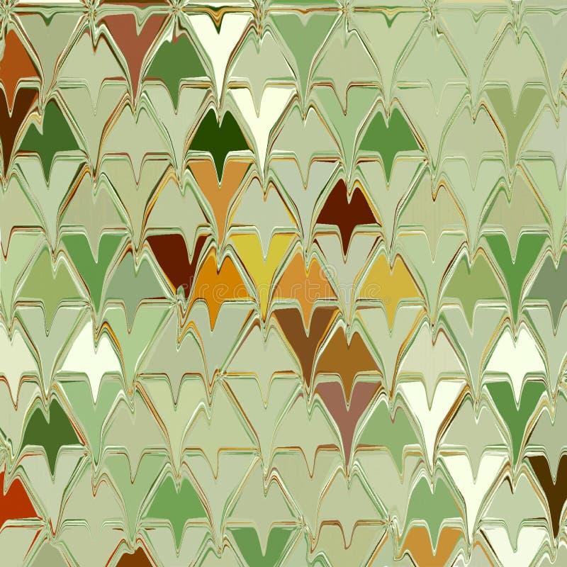Geometrische vormrij die achtergrond herhalen Het ornament van de de herfstdaling van blad stock afbeeldingen