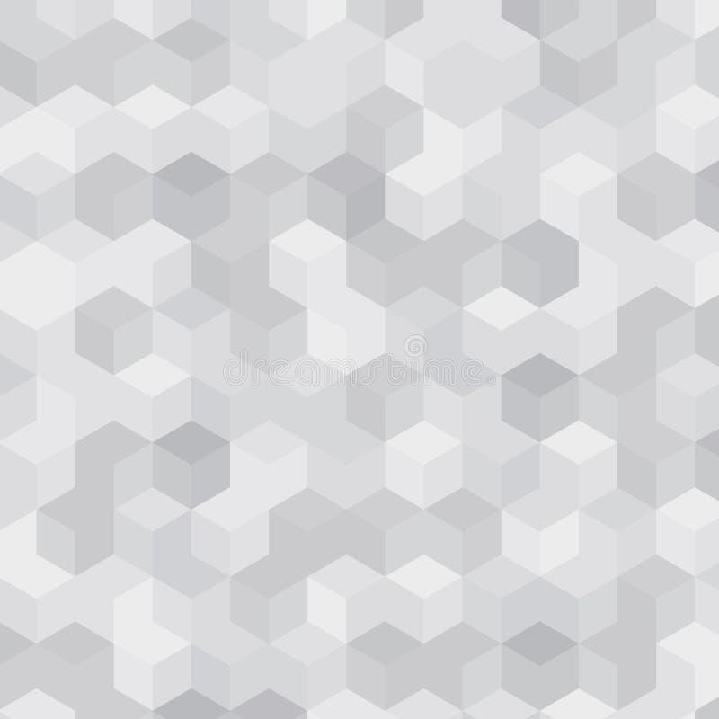 Geometrische witte textuurkubussen stock afbeelding