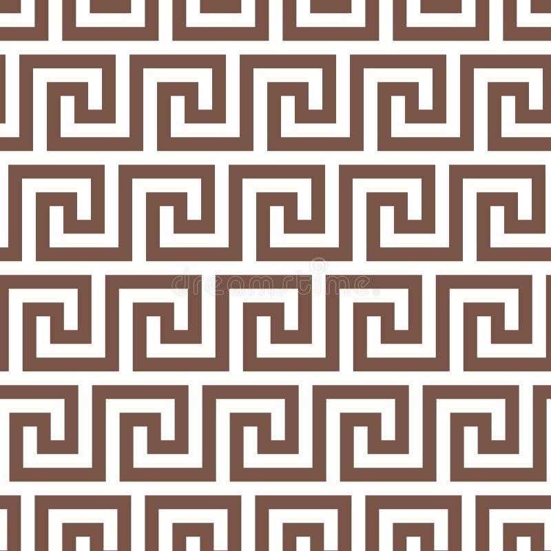 Geometrische Zeile abstraktes nahtloses Muster mit griechischem antikem Motiv vektor abbildung